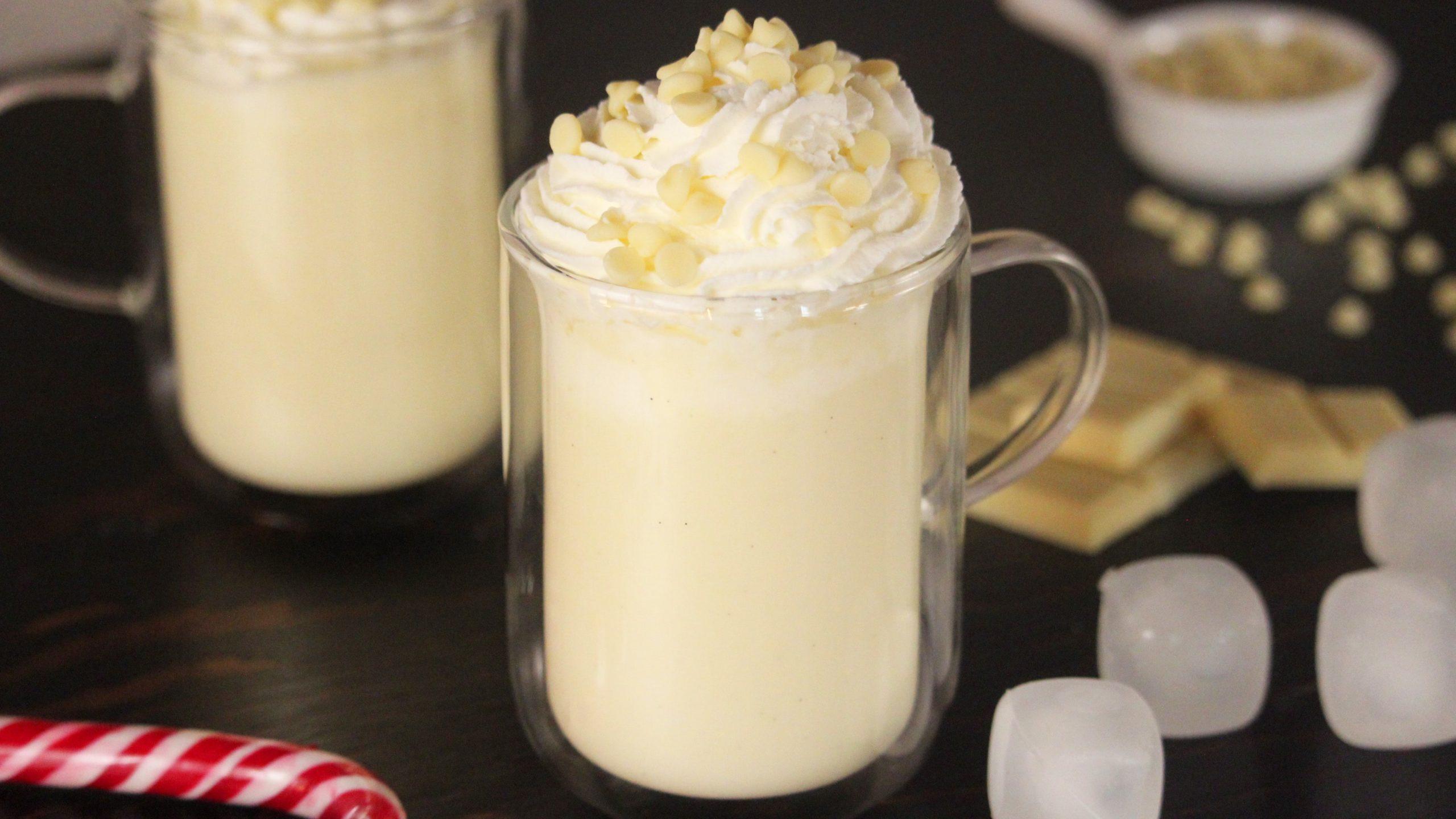 hot white chocolate